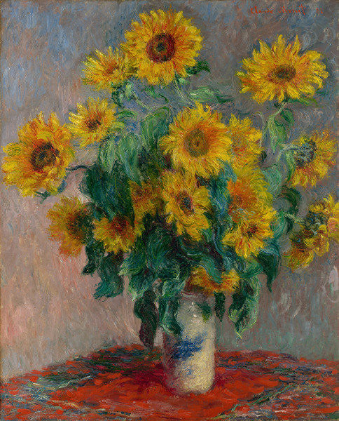 Detail of Bouquet of Sunflowers by Claude Monet