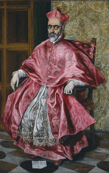 Detail of A Cardinal by El Greco