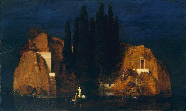 Detail of Isle of the Dead, second version by Arnold Bocklin
