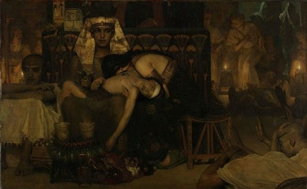 Detail of The Death of the Pharaoh's Firstborn Son by Sir Lawrence Alma-Tadema
