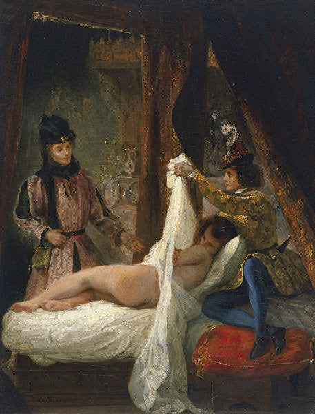 Louis d'Orleans showing his Mistress by Ferdinand Victor Eugene Delacroix