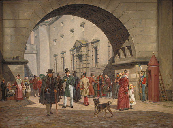 Detail of The Prison of Copenhagen by Martinus Rorbye