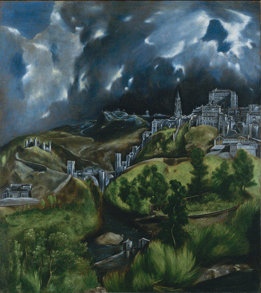 Detail of View of Toledo by El Greco