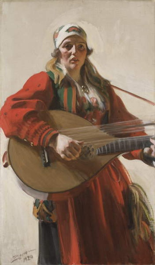 Detail of Home Tunes, 1920 by Anders Leonard Zorn