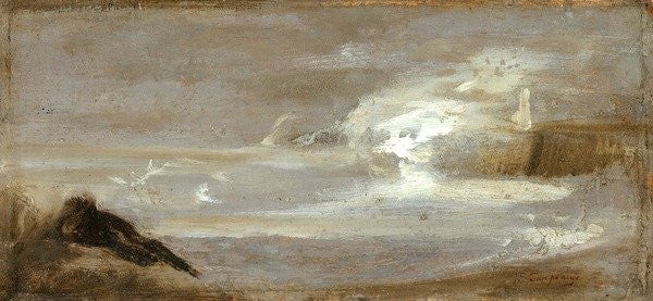 Detail of Seascape by Jean-Baptiste Carpeaux