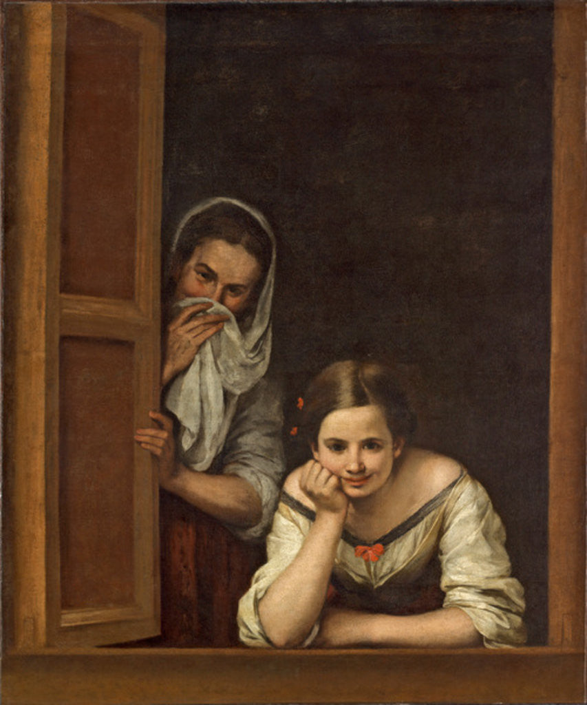 Detail of Women from Galicia at the Window by Bartolome Esteban Murillo