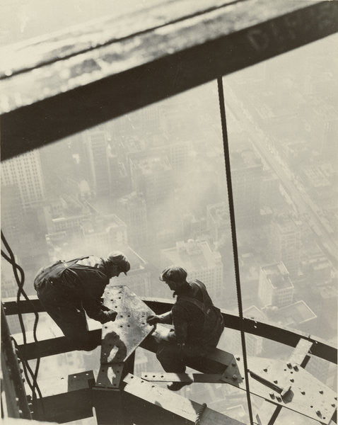 Detail of Empire State Building, New York by Lewis Wickes Hine