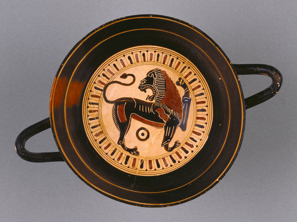 Detail of Laconian Black-Figure Kylix attributed to Hunt painter by Greek