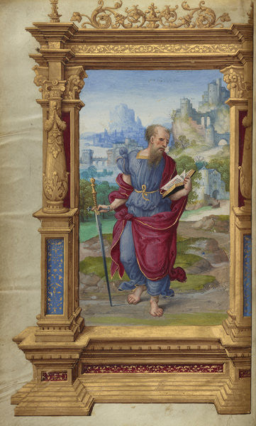 Detail of Saint Paul from the Getty Epistles by Master of the Getty Epistles