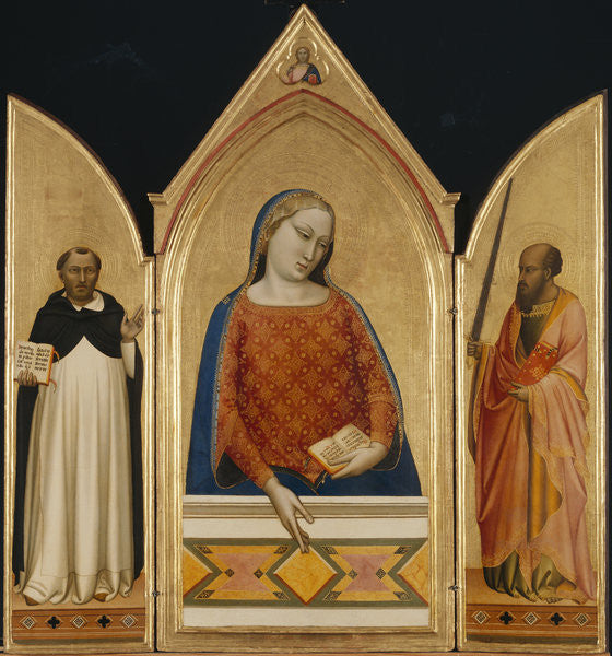 Detail of The Virgin Mary with Saints Thomas Aquinas and Paul by Bernardo Daddi