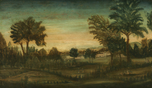 Detail of Landscape with Buildings by American School