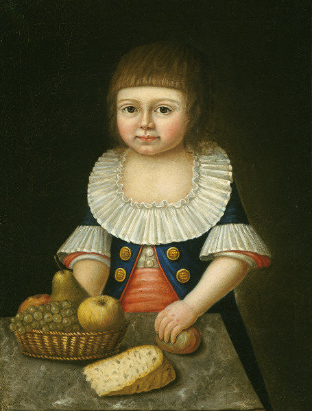 Detail of Boy with a Basket of Fruit by American School