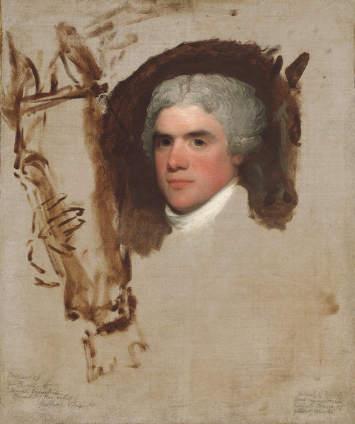 Detail of John Bill Ricketts by Gilbert Stuart