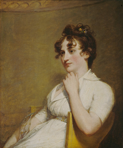 Detail of Eleanor Parke Custis Lewis (Mrs. Lawrence Lewis) by Gilbert Stuart