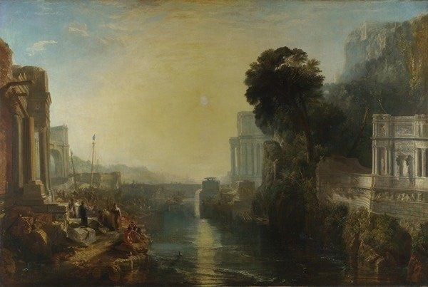Detail of Dido building Carthage, or The Rise of the Carthaginian Empire by Joseph Mallord William Turner