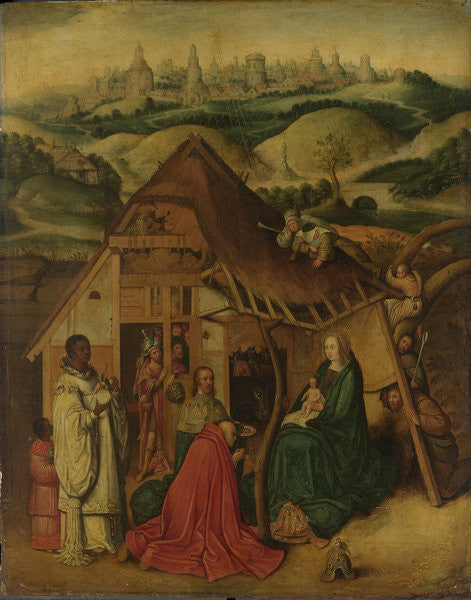 Detail of Adoration of the Magi by Hieronymus Bosch