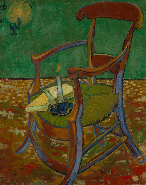 Detail of Gauguin's Chair by Vincent van Gogh