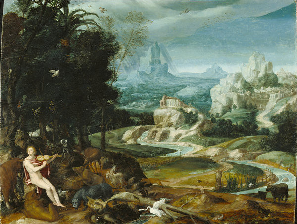 Detail of Landscape with Orpheus by Flemish School
