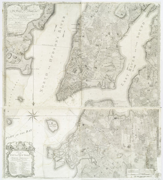Detail of Plan of the city of New York in North America surveyed in the years 1766 & 1767 published in Faden's Atlas by William Faden