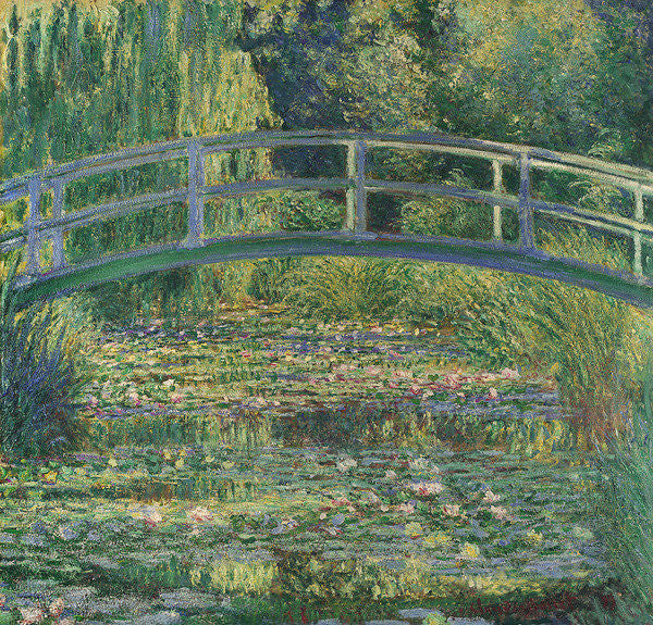 Detail of Waterlily Pond by Claude Monet