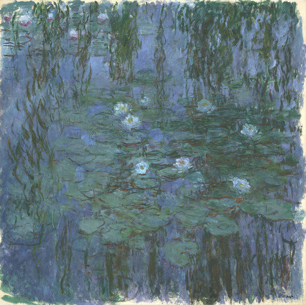 Detail of Blue Nympheas by Claude Monet