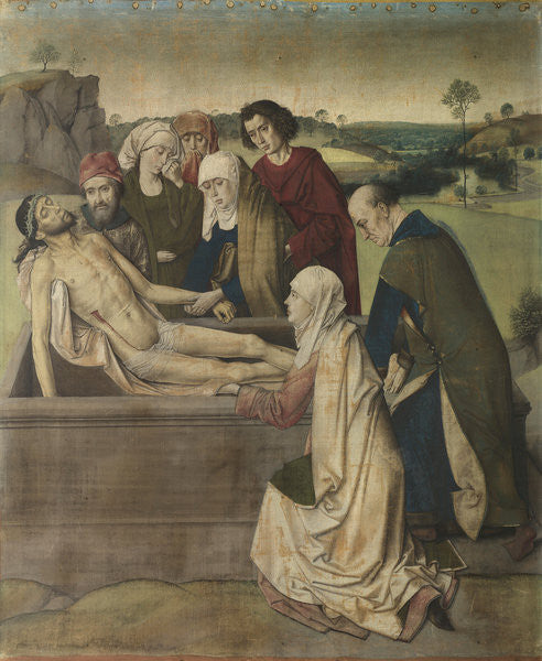 Detail of Entombment by Dirck Bouts