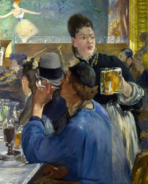 Detail of Corner of a Cafe-Concert by Edouard Manet