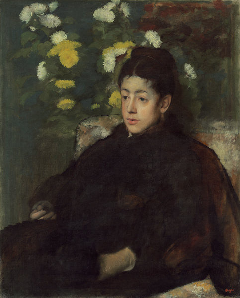 Detail of Mademoiselle Malo by Edgar Degas