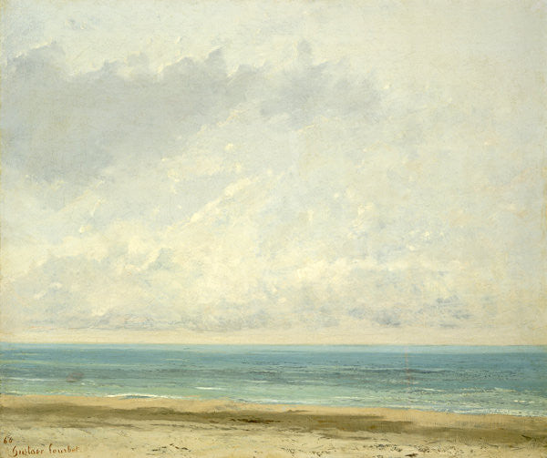 Detail of Calm Sea by Gustave Courbet