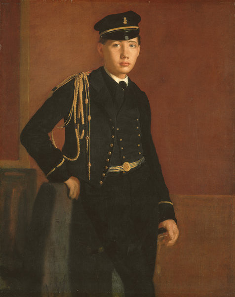 Detail of Achille De Gas in the Uniform of a Cadet by Edgar Degas