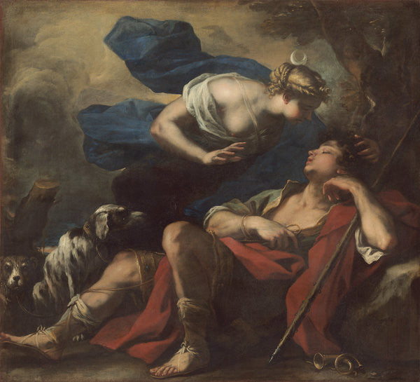 Detail of Diana and Endymion by Luca Giordano
