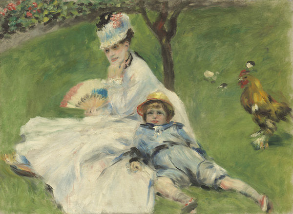 Detail of Madame Monet and Her Son by Pierre Auguste Renoir