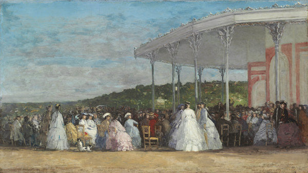 Detail of Concert at the Casino of Deauville by Eugene Louis Boudin