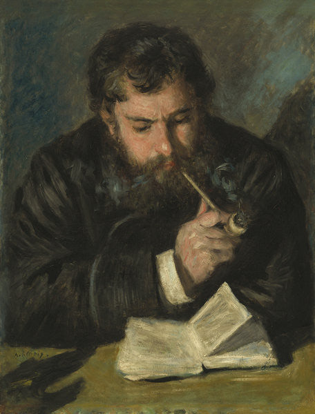 Detail of Claude Monet by Pierre Auguste Renoir