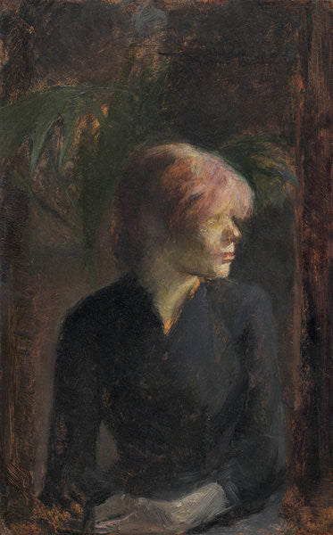 Detail of Carmen Gaudin by Henri de Toulouse-Lautrec