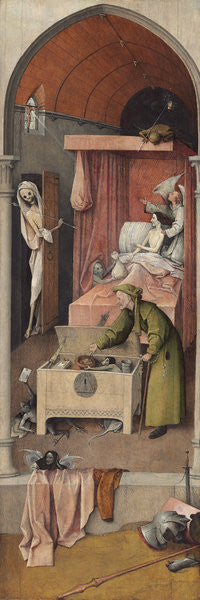 Detail of Death and Miser by Hieronymus Bosch