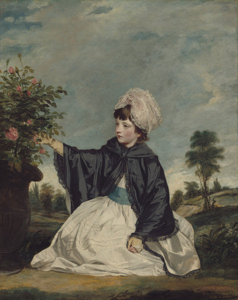 Detail of Lady Caroline Howard by Sir Joshua Reynolds