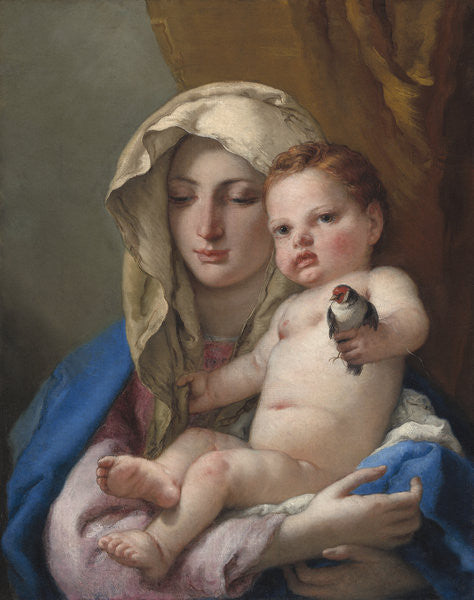 Detail of Madonna of the Goldfinch by Giovanni Battista Tiepolo