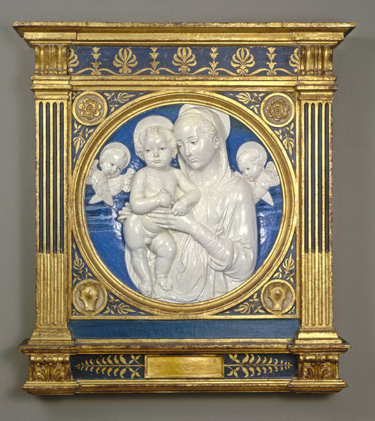 Madonna & Child with Cherubs by Andrea Della Robbia