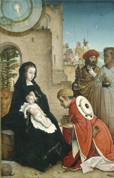 Detail of Adoration of the Magi by Juan de Flandes