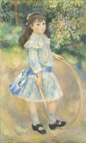 Detail of Girl with a Hoop by Pierre Auguste Renoir