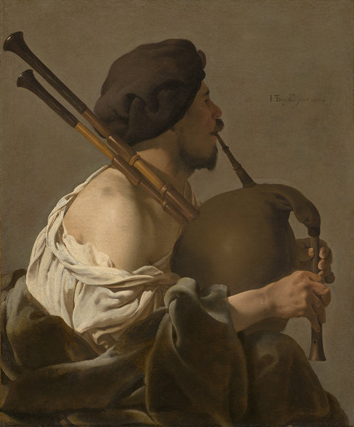 Detail of Bagpipe Player by Hendrick Ter Brugghen