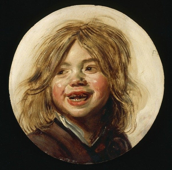Detail of Laughing Child by Frans Hals