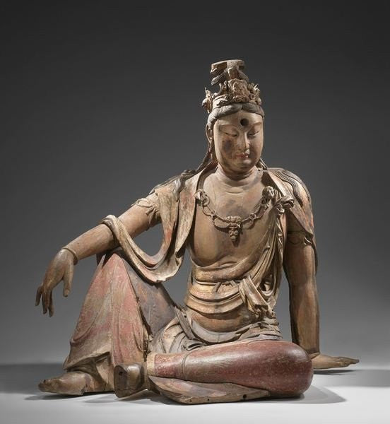 Detail of Buddhist deity Guanyin, Shanxin, China by Anonymous