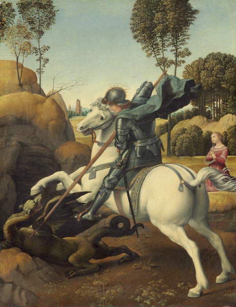 Detail of Saint George and the Dragon, c.1506 by Raphael