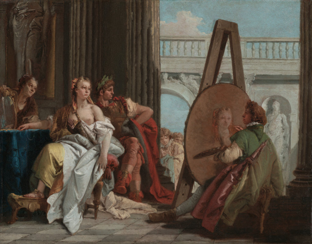 Detail of Alexander the Great and Campaspe in the Studio of Apelles by Giovanni Battista Tiepolo