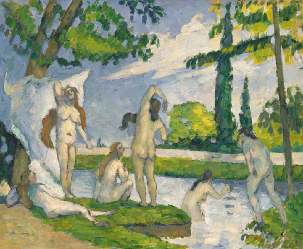 Detail of Bathers, 1874-75 by Paul Cezanne