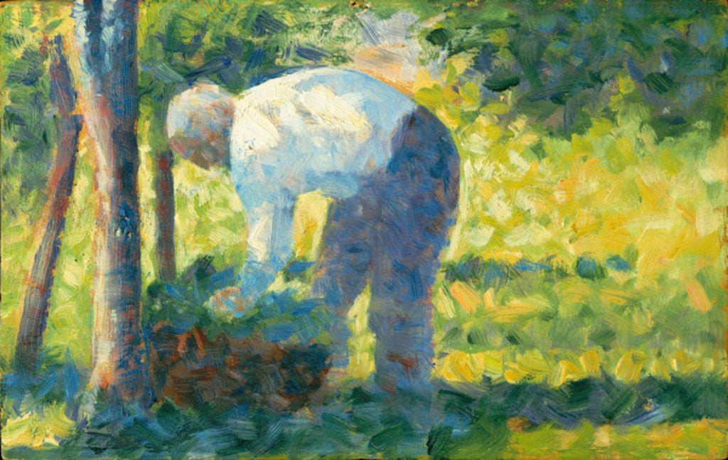 Detail of The Gardener, 1882-83 by Georges Pierre Seurat