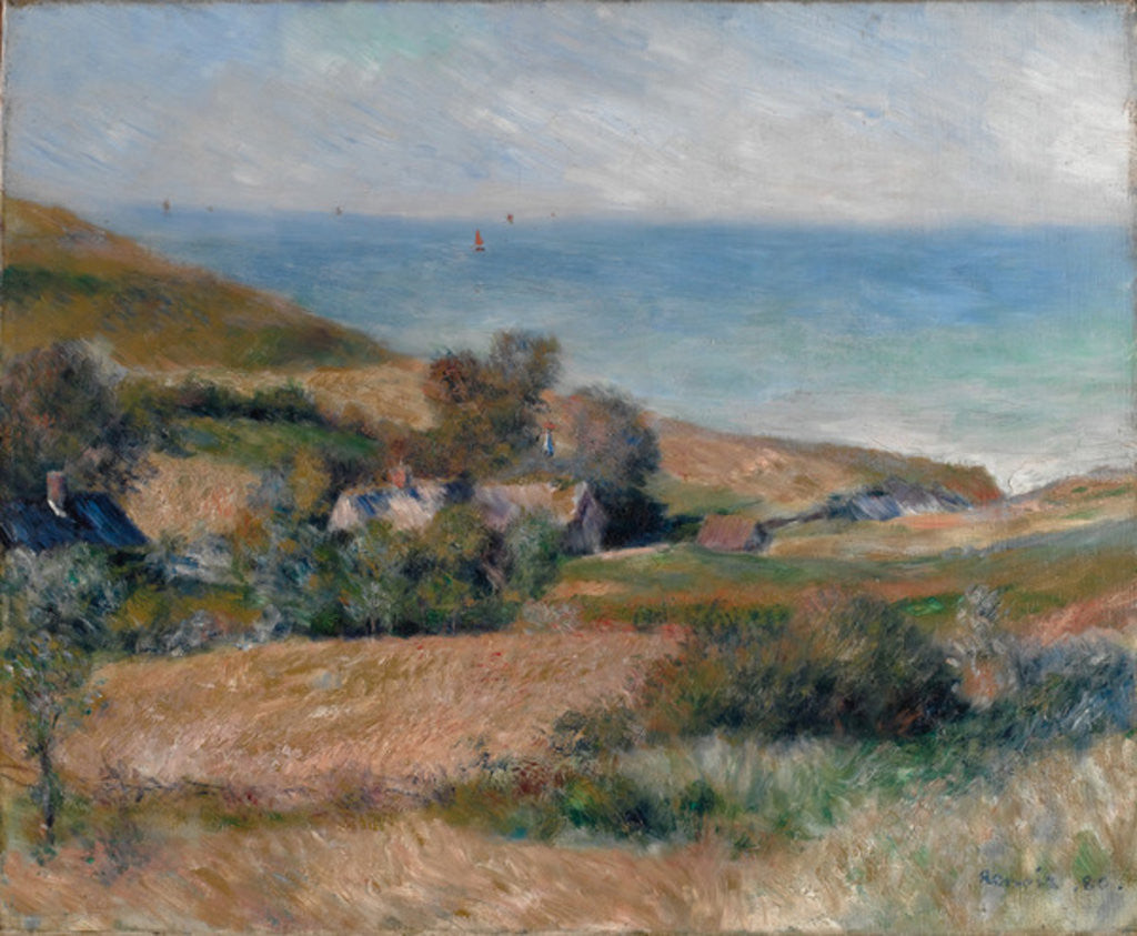 Detail of View of the Seacoast near Wargemont in Normandy, 1880 by Pierre Auguste Renoir