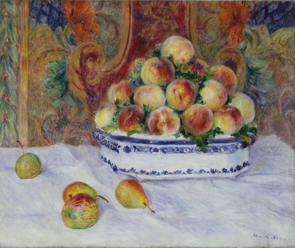 Detail of Still Life with Peaches, 1881 by Pierre Auguste Renoir